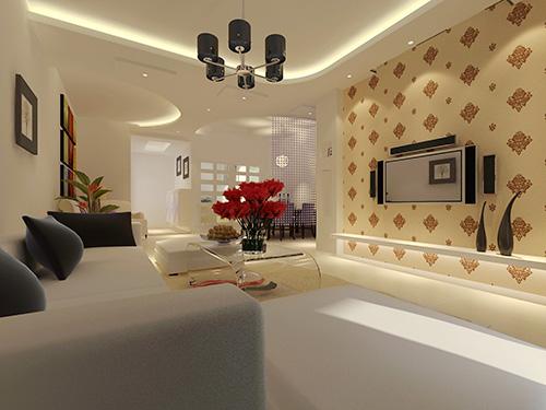 客厅室内led灯带安装效果图